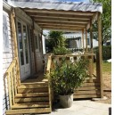 Open wooden terrace Mobile home