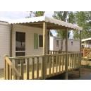 terrasse Demi-Couverte pour Mobil Home