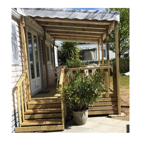 Terrasse pour mobil home, Terrasses Couvertes en Bois pour ...