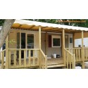 wooden terrace Mobile home